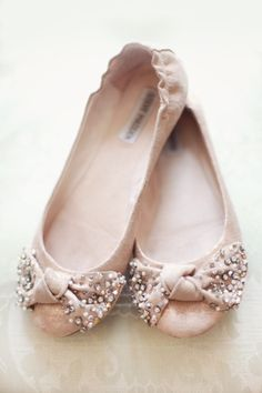 Dusty Pink Flats -  source: stylemepretty.com