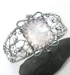 Life Becomes You intricate victorian rose quartz by SofiesC