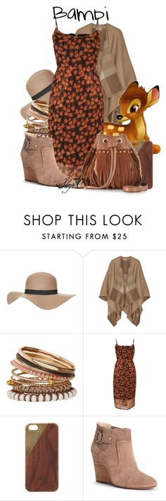 """""""Bambi - Disney"""" by rubytyra ❤ liked on Polyvore featuring Topshop, Burberry, Miss Selfridge, Objects Without Meaning, Native Union, Sole Society, Diane Von Furstenberg, disney, disneybound and bambi"""