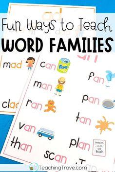 Fun ways to teach word families