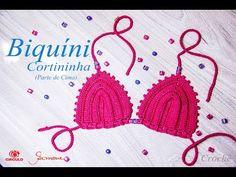 Biquíni de Crochê Cortininha | parte de cima | 1 à 12 anos| Professora Simone - YouTube