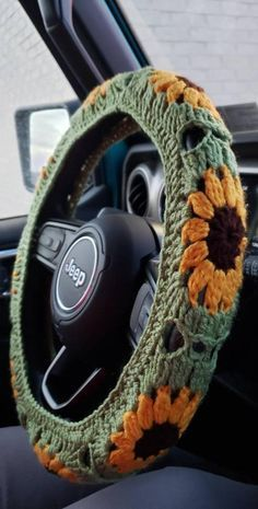 Crochet Car, Crochet Crafts, Crochet Projects, Sewing Projects, Crochet Bag Tutorials, Free Crochet Bag, Crochet Animal Amigurumi, Crochet Daisy, Yarn Crafts