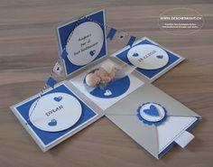 Überraschungsbox Geschenkbox Explosionsbox Taufe Geburt Baby