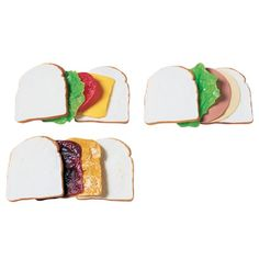 Make-A-Sandwich - Pretend Food for Kids Constructive Playthings