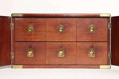 View this item and discover similar for sale at - Century English,Two Door Campaign Box With Six Drawers Campaign Furniture, Apothecary Cabinet, Cabinets For Sale, Home Comforts, British Colonial, Cupboard, 19th Century, Trunks, Boxes