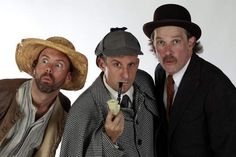 Brent Vimtrup, left, as 'Yokel' Jeremy Dubin and Nicholas Rose star in comedy adventure 'The Hound of the Baskervilles' at Cincinnati Shakespeare Company. (The Enquirer)
