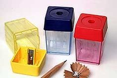 High-Cube, Single Hole Container Pencil Sharpener http://www.pencilthings.com/product-p/kum-103.50.21.htm