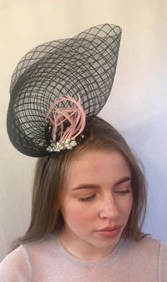 Excited to share this item from my shop: Black feather fascinator black silver fascinator unique headpieces silver black fascinator headpiece,feather headpiece,fascinators Silver Fascinator, Feather Headpiece, Fascinators, Headpieces, Races Outfit, Black Headband, Black Cover, Black Feathers, Pink Satin