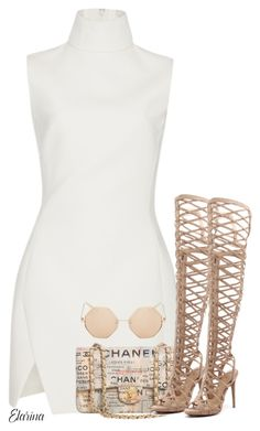 Untitled #283 by elarina on Polyvore featuring Thierry Mugler, Wanted, Chanel and Topshop