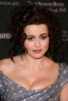 Helena Bonham Carters messy, curly hairstyle