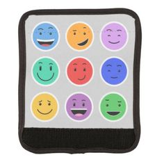 #Cute Smileys luggage handle wrap - #travel #accessories