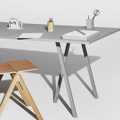 HAY Loop Stand Table grey. Grijs linoleum bovenblad met een lichtgrijs gelakt onderstel. www.emma-b.nl/hay-loop-stand-table-grey-160-cm Of kom langs in onze winkel om te kijken naar deze tafel. Emma b. Oudegracht 218 / Hoek Hamburgerstraat Utrecht NL.