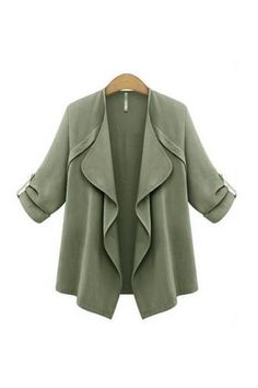 Trench Coat with Waterfall Drape - US$27.95 -YOINS