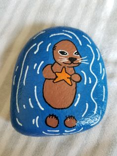 Otter Otter Image by Tiere Malen Ideen 2020 Was bedeutet? Pebble Painting, Stone Painting, Diy Painting, Rock Painting Ideas Easy, Rock Painting Designs, Painted Rocks Craft, Lake Art, Pet Rocks, Kid Rock