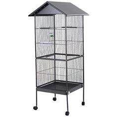 """Giantex 61"""" Large Parrot Bird Cage Play Top Pet Supplies w/Perch Stand Two Doors Iron - http://www.petsupplyliquidators.com/giantex-61-large-parrot-bird-cage-play-top-pet-supplies-wperch-stand-two-doors-iron/"""