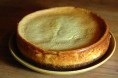 Baked vanilla cheesecake made from a Gordon Ramsay recipe