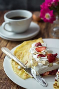 Swedish Pancakes with Strawberries So close to our family's recipe. This is a must-do when company comes!