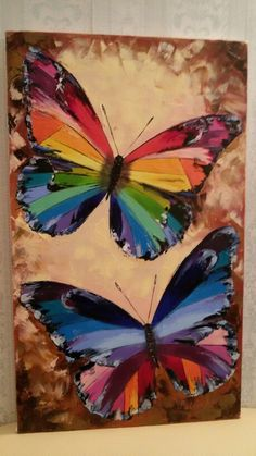 Butterfly Painting, Butterfly Art, Painting & Drawing, Watercolor Paintings, Pop Art, Butterfly Pictures, Acrylic Art, Amazing Art, Art Projects