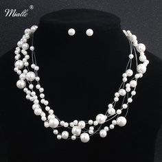 Find More Jewelry Sets Information about Miallo Fashion Ivory White Pearls Bridal Jewelry Sets Wedding Dress Accessories Women Charm Necklace Earrings Sets ,High Quality Jewelry Sets from Miallo Official Store on Aliexpress.com
