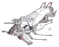 ArtStation - Spaceship Sketches 03, chromatinker .