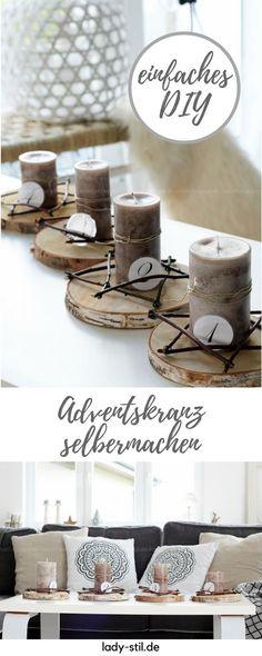 Adventskranz aus der Natur! DIY mit natürlichen Materialien! Nachhaltiger Adventskranz!