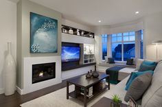 Living room media area inspiration Houzz - Home Design, Decorating and Remodeling Ideas and Inspiration, Kitchen and Bathroom Design