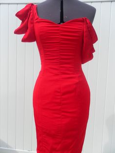 Items similar to Lucious Red Cocktail Dress, Evening Dress, Prom Dress, Bridesmaid Dress, Wedding on Etsy Beautiful Dresses, Nice Dresses, Pretty Outfits, Pretty Clothes, Bridesmaid Dresses, Prom Dresses, Red Cocktail Dress, Dressed To The Nines, I Dress