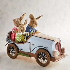 Pier 1 Imports The Hares-Road Tripping Natural Bunnies Easter Banner, Easter Bunny Decorations, Easter Decor, Easter Ideas, Easter Pillows, Easter Table Settings, Easter Season, Holiday Signs, Easter Celebration