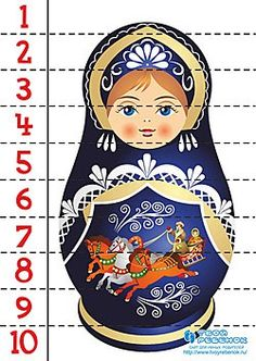 МАТЕМАТИЧЕСКИЕ ПАЗЛЫ Russian Culture, Russian Art, Numeracy Activities, Activities For Kids, Morning Activities, Matryoshka Doll, Continents, World Cultures, Pixel Art