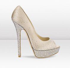 Women Sandals, Women's Shoes, Jimmy Choo Light Gold Satin Rhinestone Sandals Peep JC JC JC heels shoes