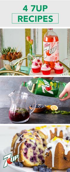 Kick your spring party up a notch with these 4 7UP Recipes! From Sparkling Blueberry Lemonade Mojitos and 7UP Cherry Cupcakes to Lemon Blueberry 7UP Pound Cake and Cherry Pineapple Mojito, there are so many ways to bring the flavor this season. Each homemade treat uses 7UP® or 7UP® Cherry to make your get-together the best yet. Pick up all the ingredients you'll need at ShopRite.