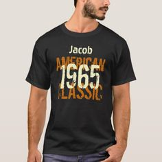 Birthday 1964 American Classic Black and Gold T-Shirt 50th Birthday Party Invitations, Birthday Drinks, 40th Birthday Gifts, Man Birthday, Gold Birthday, Cheers And Beers To 40 Years, Gold T Shirts, American Legend, White Elephant Gifts