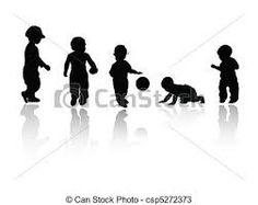 Resultado de imagen de siluetas de niños