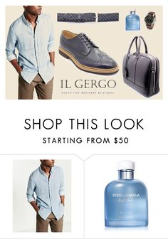 """""""Il Gergo Wight book blue"""" by paolo-rossi on Polyvore featuring Dolce&Gabbana, TW Steel, men's fashion e menswear"""