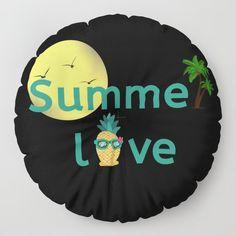 Summer Love Vibes Palms Pineapple Sun Floor Pillow by Pineapple Palm Tree, Summer Of Love, Floor Pillows, Summer Vibes, Palm Trees, Decoration, Inspiration, Ideas, Design