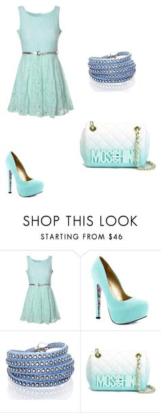"""""""Beautiful Blue"""" by kaetheturtle on Polyvore featuring Glamorous, TaylorSays, Sif Jakobs Jewellery, Moschino, women's clothing, women's fashion, women, female, woman and misses"""