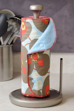 CUSTOM 6 Kitchen Towels - Snapping Unpaper - Reusable Paper Roll - Paperless - Snap - Snaps - Terry Cloth - Cotton - Choose print