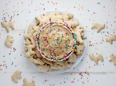 Vegan Funfetti Animal Cracker Cookie Butter: All you need is a few other simple ingredients, a quick whirl in the food processor, and you've got a delicious dessert dip in your favorite flavor.