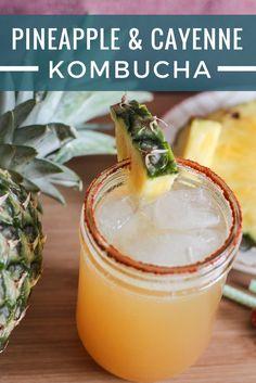 Island Fire kombucha with pineapple and cayenne pepper!
