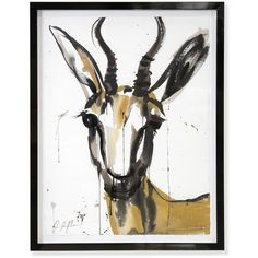 "Jonathan Adler Jenna Snyder-Phillips ""Marcelle"" Framed Sumi Ink... (13,130 CNY) ❤ liked on Polyvore featuring home, home decor, wall art, art, backgrounds, decor, animals, abstract painting, ink drawing and animal wall art"