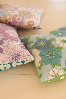 vintage floral pastel cushions  Like the different patterns on each side