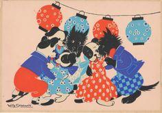 Animalarium: Sunday Safari - Let's Dance  WIlly Schermele, Ondjes (1930s?), via Jan Willemsen