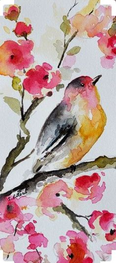 Watercolor Wallpaper, Watercolor Bird, Watercolor Animals, Watercolor Illustration, Watercolor Paintings For Beginners, Watercolor Projects, Bunny Painting, Painting & Drawing, Bright Art