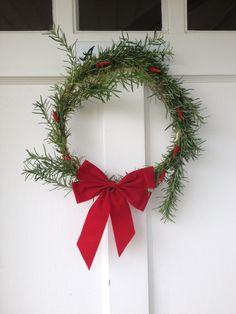 My French Religion: DIY Rosemary Wreath: www.GirlGab.com