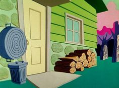 Animation Backgrounds - Backgrounds from Looney Tunes short 'Red Riding...: