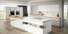 Bildergebnis für Grifflos Küche weiß