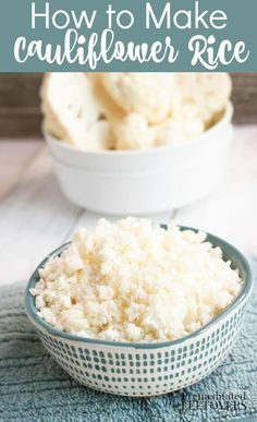 How to Make Cauliflower Rice. tips on how to rice cauliflower, how to cook cauliflower rice, how to store it, and how to freeze cauliflower rice.wonderful low carb substitute for rice you can use in many recipes How To Cook Cauliflower, Frozen Cauliflower Rice, Recipe For Cauliflower Rice, Riced Cauliflower, Riced Califlower Recipes, Califlower Rice, Low Carb Recipes, Cooking Recipes, Healthy Recipes