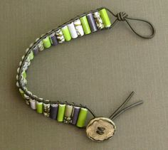 DeepBlueNotion :: Paper Bead Leather Wrap Bracelet - The Young & The Talented Fashion Design Competition