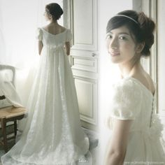 Sweet, romantic wedding gowns from LUCE classica Japan