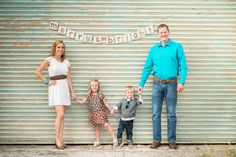 Merry & Bright Banner made from Recycled Cardboard, Personalized Family Christmas Card Photo Holiday Picture Prop Bunting Decoration